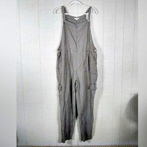 Artisan NY Linen Overalls Khaki Cargo